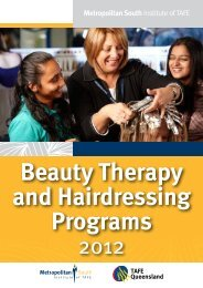 MSIT Beauty Therapy and Hairdressing programs 2012