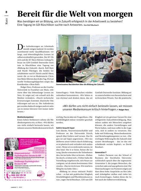 Nr. 2 / Februar 2012 - Fachhochschulen (PDF, 7242 kb - KV Schweiz