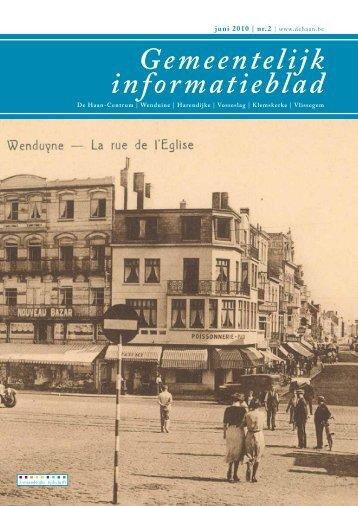 Informatieblad juni 2010 - De Haan
