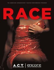 Race - American Conservatory Theater