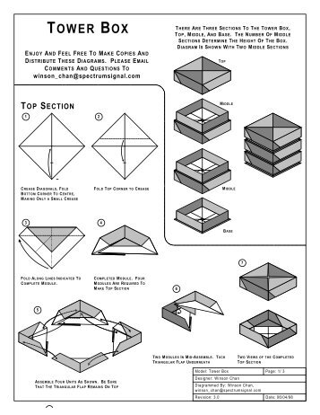 TOWER BOX - Origami