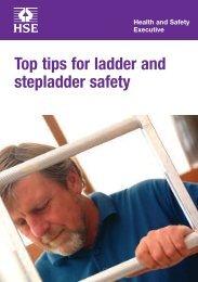 indg405 - Top tips for ladder and stepladder safety - HSE