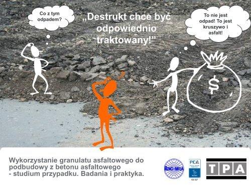 Wykorzystanie granulatu asfaltowego do podbudowy z ... - BLL Gdynia