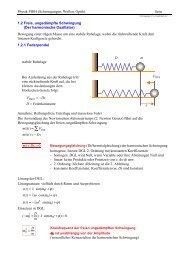 Physik PH04 (Schwingungen, Wellen, Optik) Seite 1.2 Freie ...