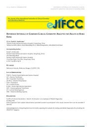 reference intervals of common clinical chemistry analytes for ... - IFCC