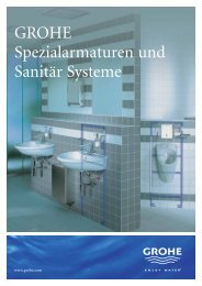 GROHE Spezialarmaturen und Sanitär Systeme