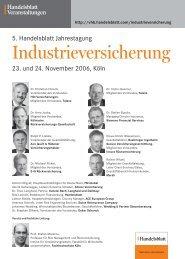 5. Handelsblatt Jahrestagung Industrieversicherung