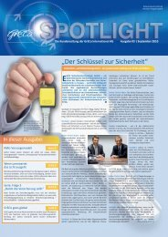 Spotlight 3-2010: EVVA Der Schlüssel zur Sicherheit - GrECo