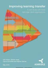 Improving Learning Transfer - Ashridge