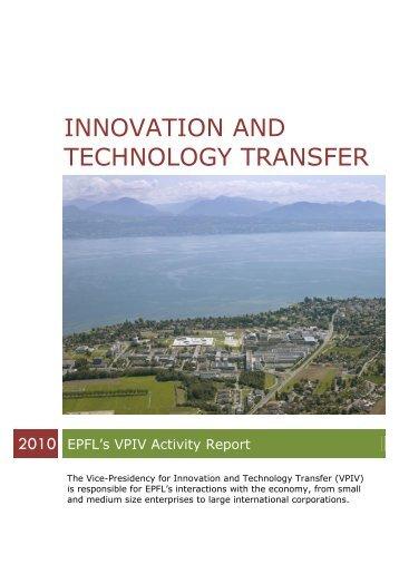 Innovation and Technology Transfer - VPIV - EPFL