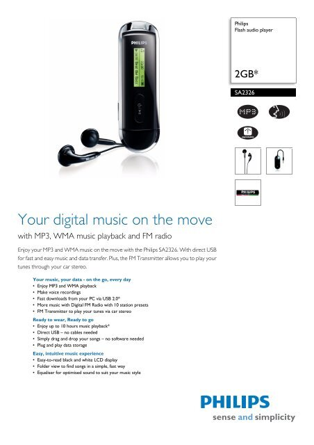 PHILIPS SA4110/37 MP3 PLAYER DRIVERS FOR PC