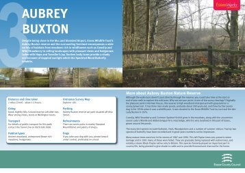 Aubrey Buxton Nature Reserve - Essex County Council