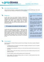 Case Study | Cable & Wireless 97% adoption rate ... - Traveltek
