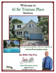 45 Sir Tristram Place - John and Renee Procenko