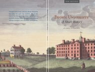 A Short History - Brown University
