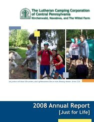 2007 LCC Annual Report - Lutheran Camping Central Pennsylvania