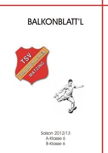 13. Spieltag: TSV Traunwalchen - SV Erlstätt 6:2