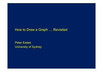 How to Draw a Graph - School of Computer Science and Software ...