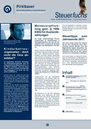 Kinderbetreu- ungskosten - doch nicht die Oma ab ... - Pirklbauer