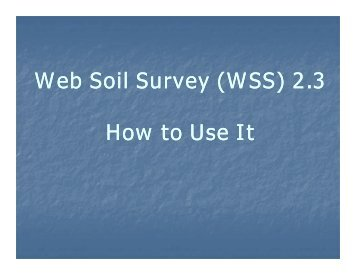 How to use Web Soil Survey