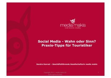 Social Media - Wahn oder Sinn? Praxis-Tipps für Touristiker