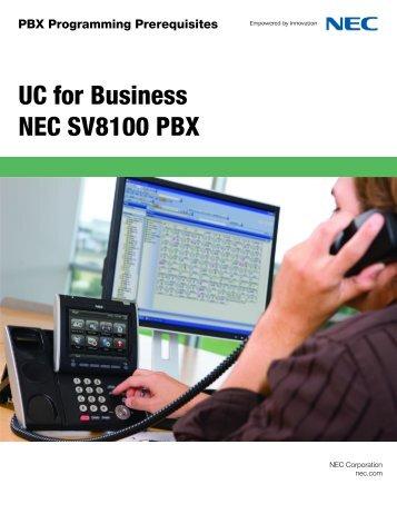 uc for business nec sv8300 pbx for ucb rh yumpu com nec sv8300 user guide nec sv8300 programming guide