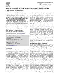 Role of ubiquitin- and Ubl-binding proteins in cell signaling