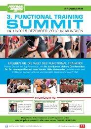 Die referenten - Functional Training Summit 2012
