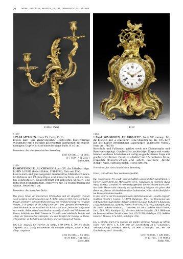 70 1118* 1 PAAR APPLIKEN, Louis XV, Paris, 18 ... - Koller Auktionen