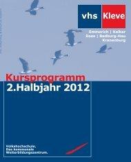 1 2 3 4 5 6 7 8 9 X - Volkshochschule Kleve