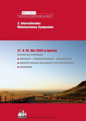 3. internationales Weintourismus Symposium 27. & 28. Mai ... - Pla'tou