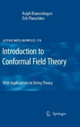 Introduction to Conformal Field Theory: With Applications to String ...