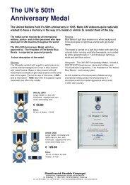 The UN's 50th Anniversary Medal - Skandinavisk Handels Kompagni