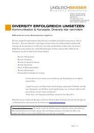DIVERSITY ERFOLGREICH UMSETZEN - Ungleich Besser ...