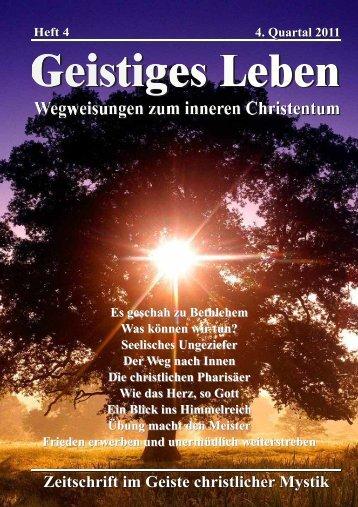 Zeitschrift im Geiste christlicher Mystik - der Lorber-Gesellschaft eV