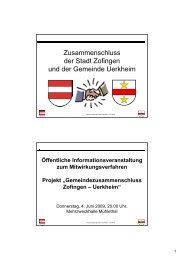 Öffentliche Informationsveranstaltung zum ... - Zofingen