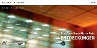 Plattform Neue Musik Ruhr ENTDECKUNGEN - Philharmonie Essen