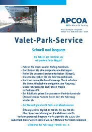 Valet-Park-Service Schnell und bequem - Flughafen Stuttgart