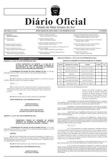 Diário Oficial de MS - Governo do Estado do Mato Grosso do Sul