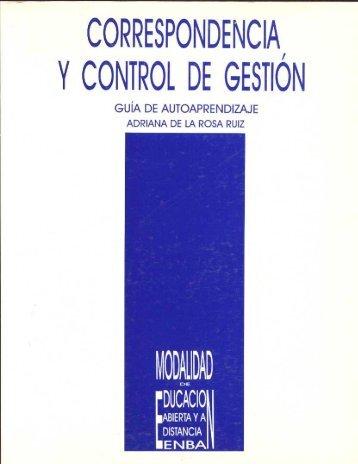 CORRESPONDENCDAI YCONTROL DE GESTION - Escuela ...