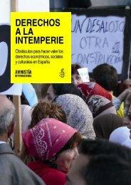 DERECHOS A LA INTEMPERIE - Amnistía Internacional España