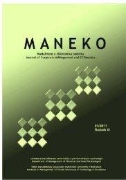 Číslo 1/2011 - Maneko