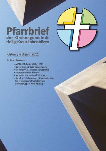 Ostern/Frühjahr 2011 - Katholische Kirchengemeinde Heilig Kreuz