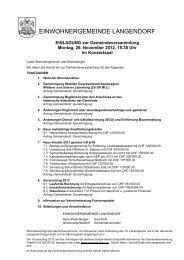 Einladung Budget-Gemeindeversammlung 26.11.2012 - Langendorf