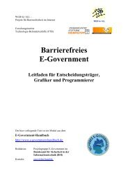 Barrierefreies E-Government - Stiftung Digitale Chancen