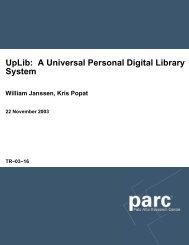 UpLib: A Universal Personal Digital Library System - Bill Janssen
