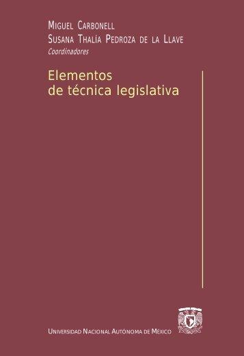 Elementos de técnica legislativa - Biblioteca Jurídica Virtual - UNAM