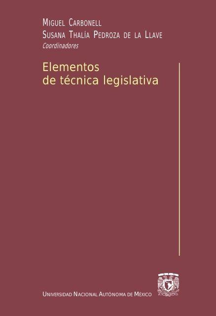 Elementos De Técnica Legislativa Biblioteca Jurídica