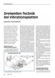 Dreiwellen-Technik bei Vibrationsplatten - Bauverlag