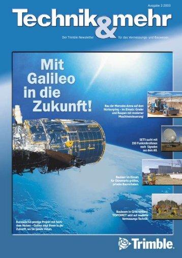 Ausgabe 2-2003 Der Trimble Newsletter für das Vermessungs- und ...